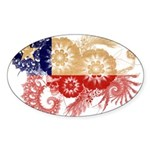 Chile Flag Sticker (Oval)