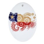 Chile Flag Ornament (Oval)