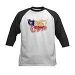 Chile Flag Kids Baseball Jersey