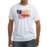 Chile Flag Fitted T-Shirt