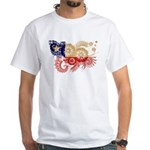 Chile Flag White T-Shirt