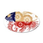 Chile Flag 22x14 Oval Wall Peel