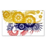 Colombia Flag Sticker (Rectangle 10 pk)