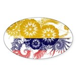 Colombia Flag Sticker (Oval 10 pk)