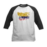 Colombia Flag Kids Baseball Jersey