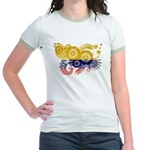 Colombia Flag Jr. Ringer T-Shirt