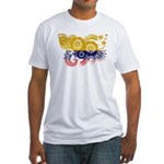 Colombia Flag Fitted T-Shirt