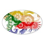 Comoros Flag Sticker (Oval 50 pk)