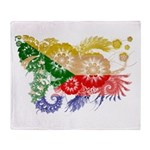 Comoros Flag Throw Blanket