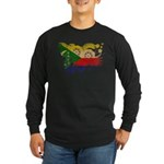 Comoros Flag Long Sleeve Dark T-Shirt