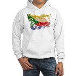 Comoros Flag Hooded Sweatshirt