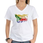 Comoros Flag Women's V-Neck T-Shirt