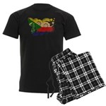 Comoros Flag Men's Dark Pajamas
