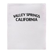 Valley Springs California Throw Blanket