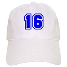 Varsity Uniform Number 16 (Blue) Baseball Cap
