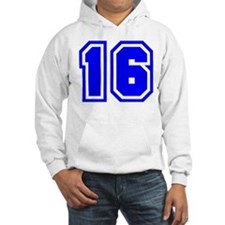 Varsity Uniform Number 16 (Blue) Hoodie