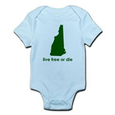 GREEN Live Free or Die Infant Bodysuit