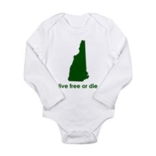 GREEN Live Free or Die Long Sleeve Infant Bodysuit
