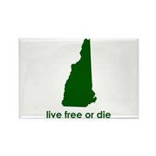 GREEN Live Free or Die Rectangle Magnet