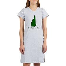 GREEN Live Free or Die Women's Nightshirt