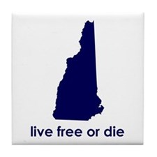 BLUE Live Free or Die Tile Coaster