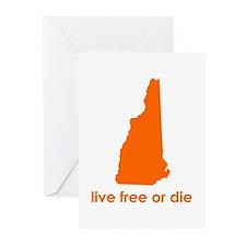 ORANGE Live Free or Die Greeting Cards (Pk of 20)