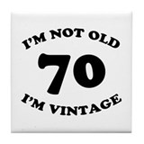 70th Funny Birthday Tile Coaster