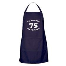 75th Funny Birthday Apron (dark)