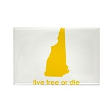YELLOW Live Free or Die Rectangle Magnet (10 pack)