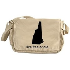 BLACK Live Free or Die Messenger Bag