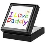 I Love Daddy Keepsake Box
