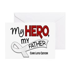 My Hero Lung Cancer Greeting Cards (Pk of 10)