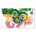 Ethiopia Flag Sticker (Rectangle 10 pk)