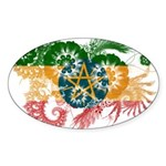 Ethiopia Flag Sticker (Oval)