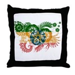 Ethiopia Flag Throw Pillow