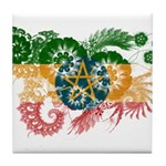 Ethiopia Flag Tile Coaster