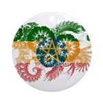Ethiopia Flag Ornament (Round)