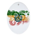 Ethiopia Flag Ornament (Oval)