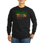 Ethiopia Flag Long Sleeve Dark T-Shirt