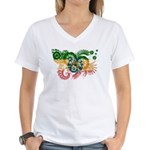 Ethiopia Flag Women's V-Neck T-Shirt