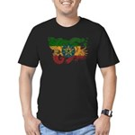 Ethiopia Flag Men's Fitted T-Shirt (dark)