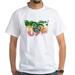 Ethiopia Flag White T-Shirt