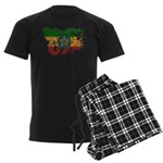 Ethiopia Flag Men's Dark Pajamas