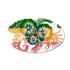 Ethiopia Flag 38.5 x 24.5 Oval Wall Peel