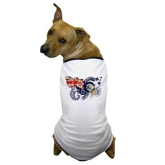 Falkland Islands Flag Dog T-Shirt