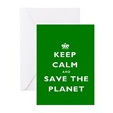 Keep Calm SAVE THE PLANET! Greeting Cards (Pk of 2