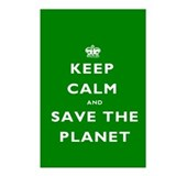 Keep Calm SAVE THE PLANET! Postcards (Package of 8