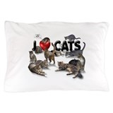 Pillow Case &amp;quot;I love Cats&amp;quot;