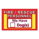 Masonic Dog Safety Sticker (Rectangle)