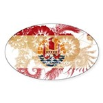 French Polynesia Flag Sticker (Oval 10 pk)